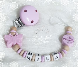 "Schnullerkette ""Baby Butterfly"""