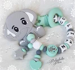 """NEU!!! SILIKON  Beissring- und Spielring """"Boboo,der kleine Elefant"""" Prinz oder Prinzessin"""