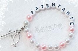 """Armbändchen """"Patentante"""" rose"""