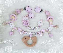 "Kinderwagenkette Set ""Little Baby Dream"" Vogerl"