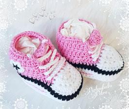 """AKTION!!! Baby Häkelschuhe  """"pinkrosa"""""""