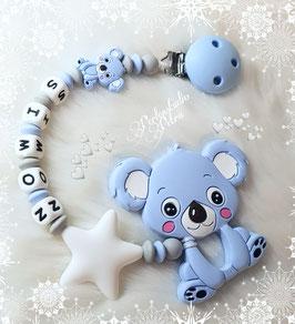 """Beißkette/Schnullerkette Silikon  """"Koala Mamas Baby"""""""