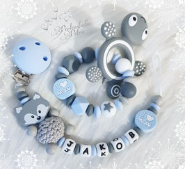 "NEU!!! Baby Set  ""I love Mom"" Silikon blau"