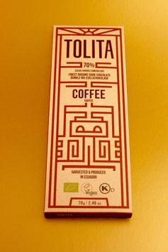 TOLITA COFFEE (KAFFEE) 70% ARRIBA-NACIONAL EDELKAKAO, ECUADOR