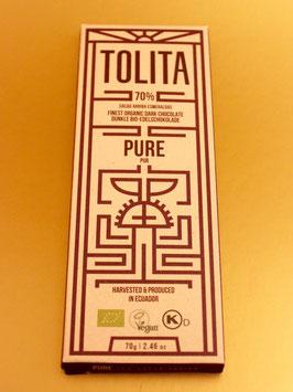 TOLITA PURE 70% ARRIBA-NACIONAL EDELKAKAO, ECUADOR