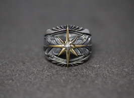 K18 Sun Feather Ring