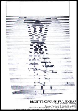 Franz Graf und Brigitte Kowanz - Bilder, Installation, Zeichnung, Poster 1984.