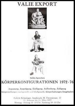 Valie EXPORT - Körperkonfigurationen 1972 - 76), Poster 1977.