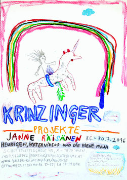 Poster (Räisanen Janne Räisanen, Heurigen, Katervideos und die Biene Maja) 2016.