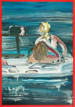"""Rui  Ferreira -o.T. """"vulgo Bootsfahrt auf dem Millstätter See"""" (Kunstwerk / artwork  2020)."""
