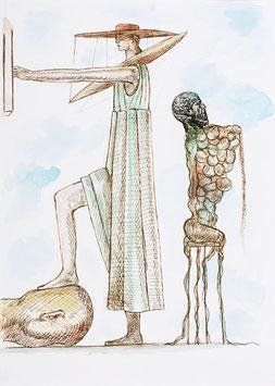 Artwork / Original Ahriman (Nader Ahriman - Torso mit Kopf des Platon) 2009.