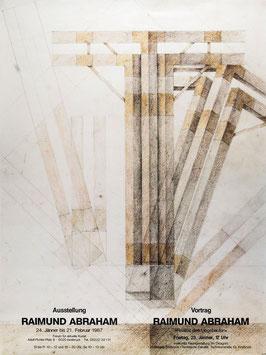 Poster (Abraham - Raimund Abraham) 1987.