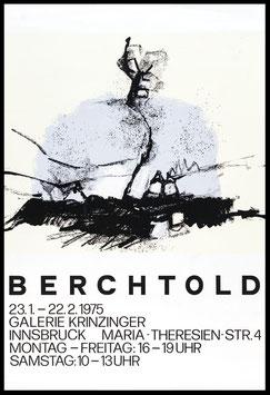 Hubert Berchtold - Landschaft 1967, Poster 1975.