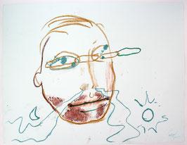 Bjarne Melgaard - O.T / Portrait (Original kunst / artwork 2006)