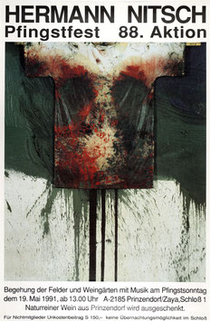 Poster (Nitsch - Hermann Nitsch - Pfingstfest 88. Aktion) 1991.