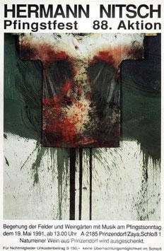 Hermann Nitsch - Pfingstfest 88. Aktion, Poster 1991.