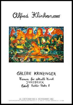 Poster (Klinkan - Alfred Klinkan - Ausstellung) 1982.
