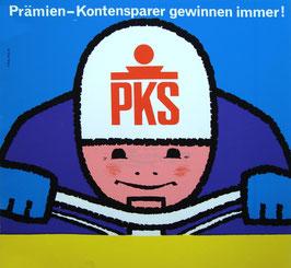 Poster (Traimer - Heinz Traimer: Prämien-Kontensparer gewinnen immer) Original Siebdruck von 1964.