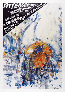 Poster (Attersee - Christian Ludwig Attersee - Werkauswahl 1986) 1986.