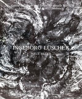 Ingeborg Lüscher - Neue Bilder, Poster 1985.