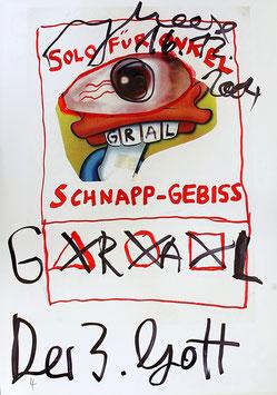 Edition: Meese (Jonathan Meese - Solo für Onkel Schnapp-Gebiss. Plakat / Poster  2/2) 2004.