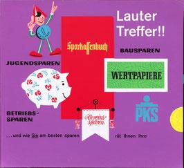 Poster (Traimer - Heinz Traimer: lauter Treffer / Sparefroh) Original Siebdruck von 1963.
