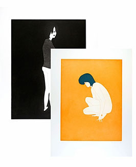 "Editions Set: Hubert Schmalix ""Sun & Moon"" (art prints 1996)."