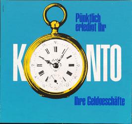 Poster (Traimer - Heinz Traimer: Pünktlich erledigt Ihr Konto (Original Siebdruck von 1966)