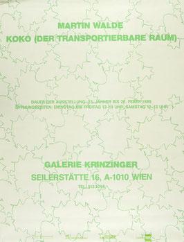Poster (Walde - Martin Walde - KOKO) 1988.