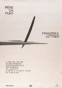 Irene Da Punt und Franziska Lettner, Poster 1988.
