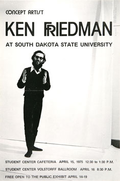 Poster (Friedman - Ken Friedman - Cocept Artist) 1975.
