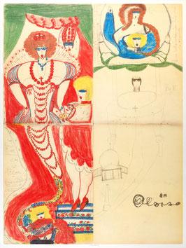 Aloise Corbaz - Peinture et musique, 1941, Poster 1984.