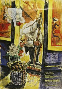 Jörg Immendorff - Cafe de Flor, Poster 1995.