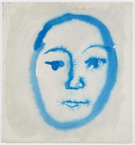 Thean Chie Chan - o.T.  / vulgo: blue Face (Original Kunst / artwork 2017).
