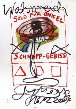 Edition: Meese (Jonathan Meese - Solo für Onkel Schnapp-Gebiss. Plakat / Poster  2/3) 2004.