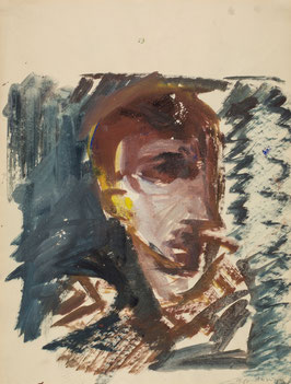 Artwork / Original: Anzinger (Siegfried Anzinger - o.T. / Portrait) 1979.