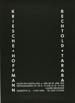 Poster (Div. Krische, Hoffmann, Bechtold, Traba) 1990.