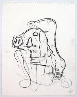 Bjarne Melgaard - O.T / pigs  (Original Kunst / artwork 2001).