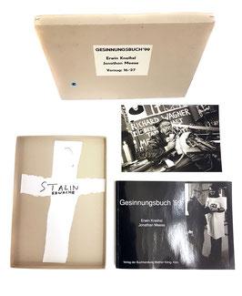 """Edition: Meese (Jonathan Meese - Gesinnungsbuch mit Fotografie und Papier-Arbeit """"Stalin"""") 1999."""