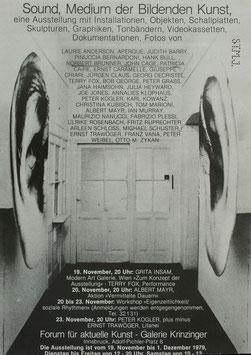 Sound, Medium der Bildenden Kunst, Poster 1979.