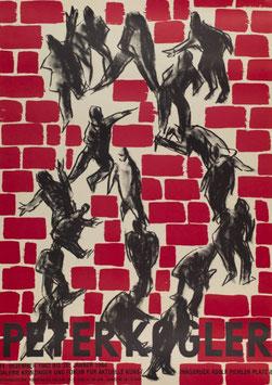 Poster (Kogler - Peter Kogler - Ausstellung  in der Galerie Krinzinger) 1984.