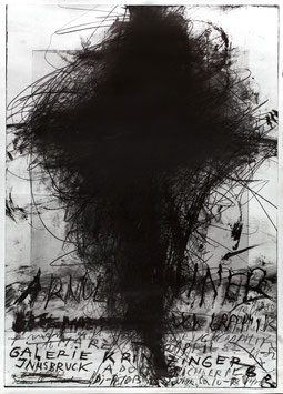 Poster (Rainer Arnulf Rainer: Übermalereien - Druckgraphik) 1982.