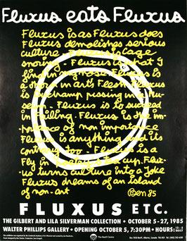 Ben Vautier - Fluxus eats Fluxus, Poster 1985.