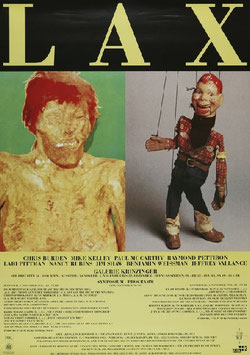 Poster (LAX - Chris Burden und Mike Kelley) 1992.