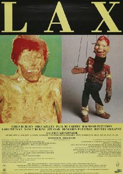 LAX - Chris Burden und Mike Kelley, Poster 1992.
