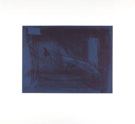 Edition: Anzinger (Siegfried Anzinger - o.T. Nr. 3 / blau) 1989.