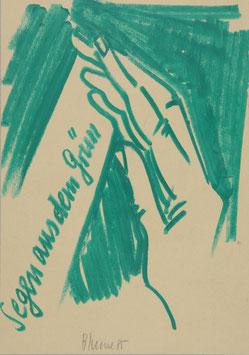 Artwork / Original: Blume (Bernhard Blume - Segen aus dem Grün) 1985.