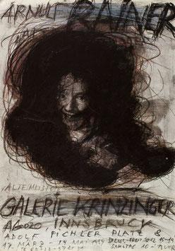 Poster (Rainer - Arnulf Rainer - Alte Meister) 1989.