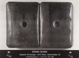Poster (Wurm - Erwin Wurm - Plakat zur Ausstellung) 1988.