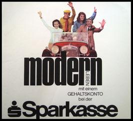 Poster (Traimer - Heinz Traimer: modern leben durch ein Girokonto) Original Siebdruck von 1968.